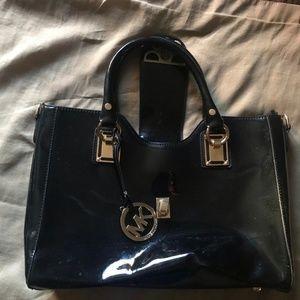 Michael Kors  Black Patent Leather Bag.
